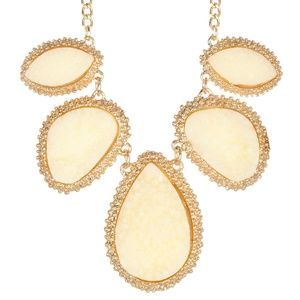 Ivory Druzy Stone Necklace